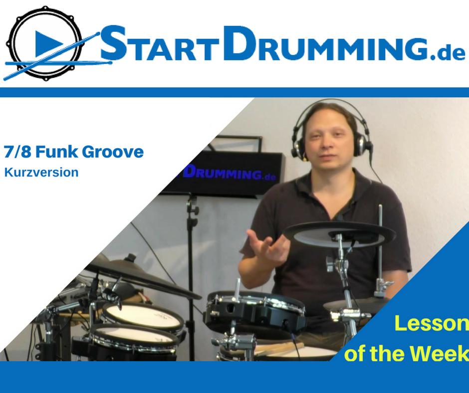 7/8 Funk Groove – Kurzversion