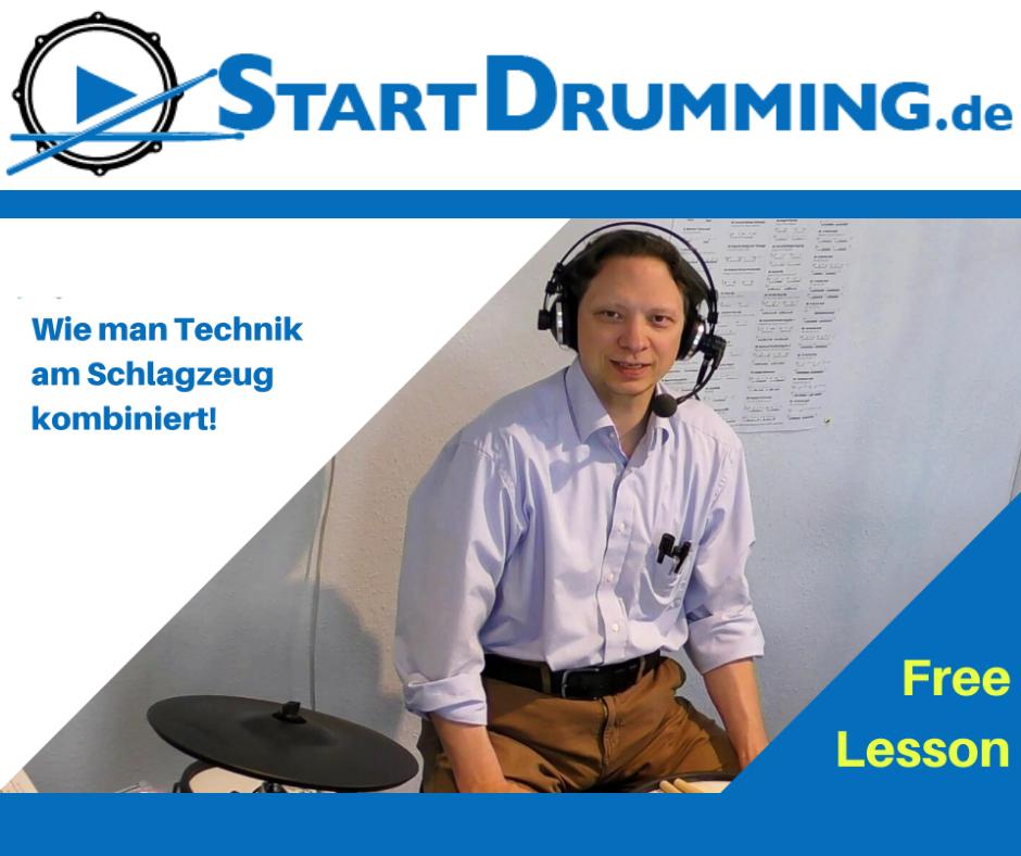 Wie Man Technik Am Schlagzeug Kombiniert!